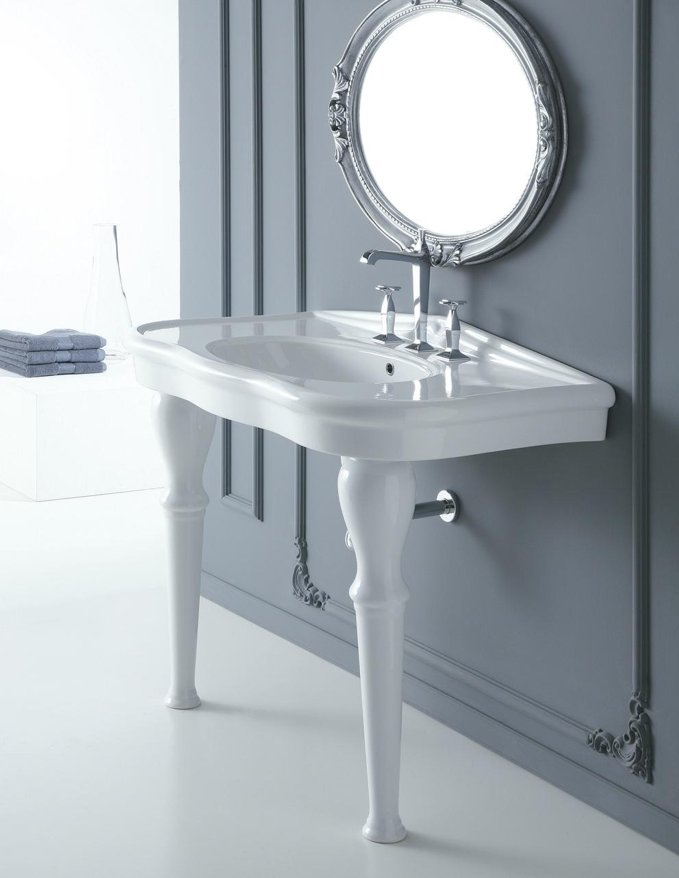 Lavabo a consolle serie paolina ceramichemichelediprima for Consolle bagno