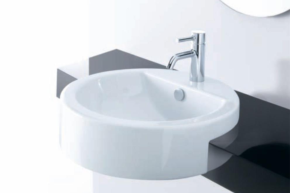 Lavabo semincasso magritte ceramichemichelediprima - Lavabo bagno semincasso ...