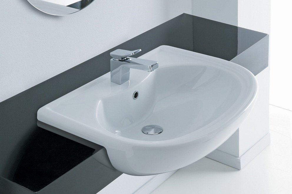 Lavabo semincasso serie giulia ceramichemichelediprima - Lavandino bagno da incasso ...