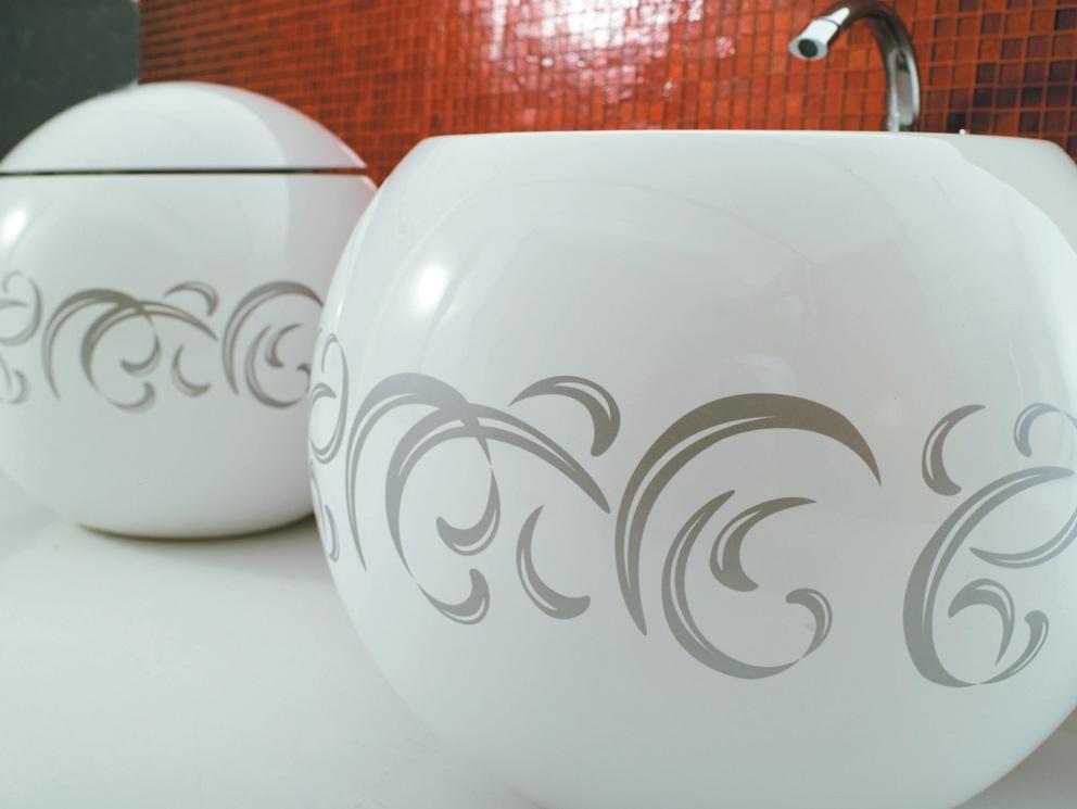 Disegno Ceramica Serie Sfera.Vaso E Bidet Serie Sfera A Terra Ceramichemichelediprima