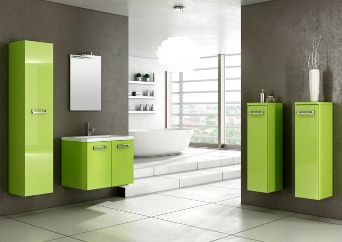 mobile bagno verde acido fatua for ., Disegni interni