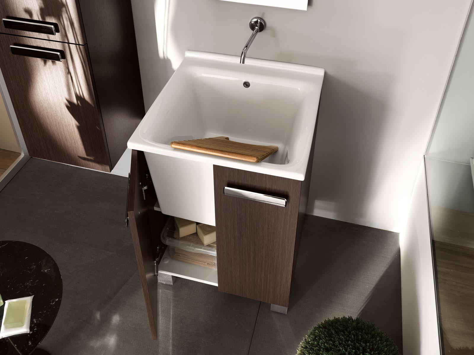Pannelli di rivestimento pareti cucina effetto legno for Lavatoio bagno moderno
